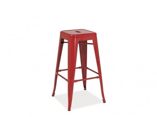 LONG CZ Bar stool Red