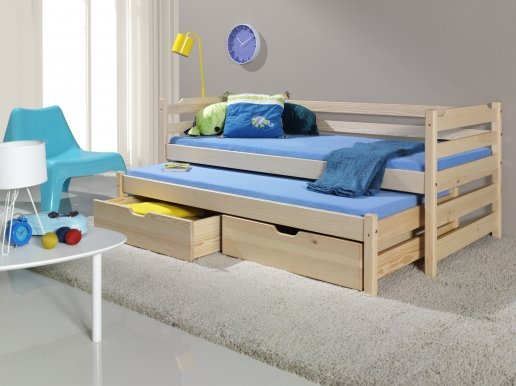 MARCIN Bed with mattress Pine