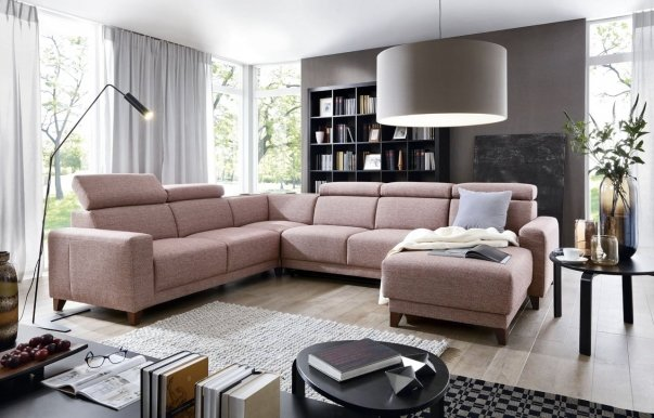Kelly SEGM.2BF L + SEGM.H2A L + SEGM.2RBB + SEGM.1OT P Сorner sofa with audio system available