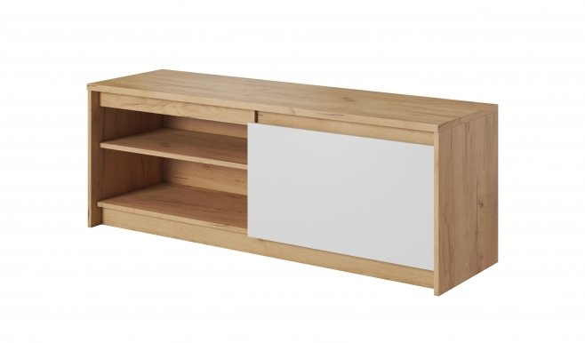 XELO K RTV1D TV cabinet Craft oak gold/white mat