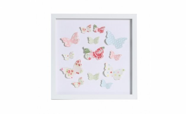 Picture with frame 3D-128 Butterfly