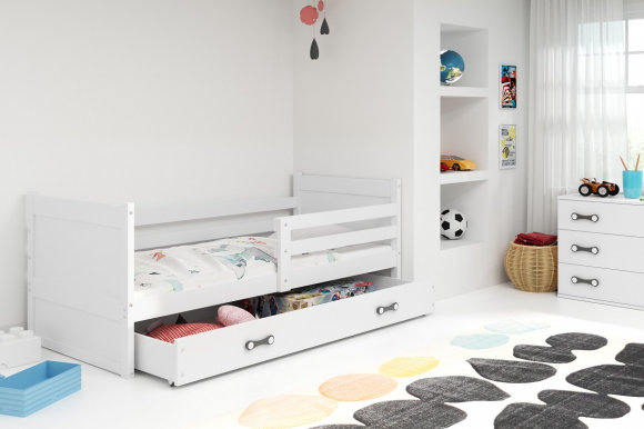 Rico I 200x90 Bed with a mattress White