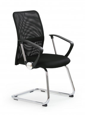 VIRE SKID Chair visitor Black