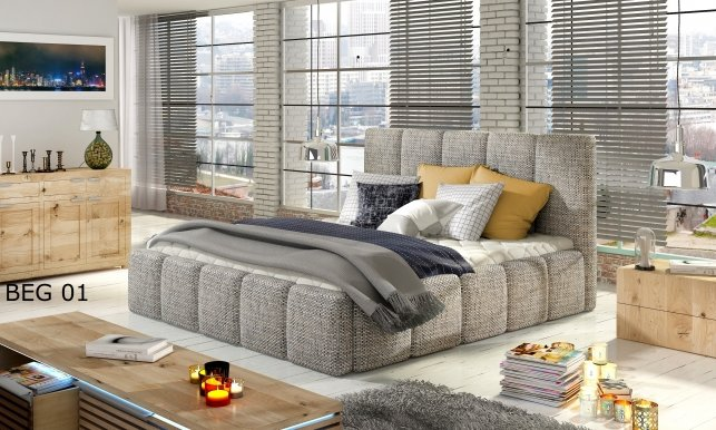 EDVIGE 140 Bed with wooden frame