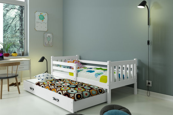 Carino 2 Twin bed with mattress 190x80 white