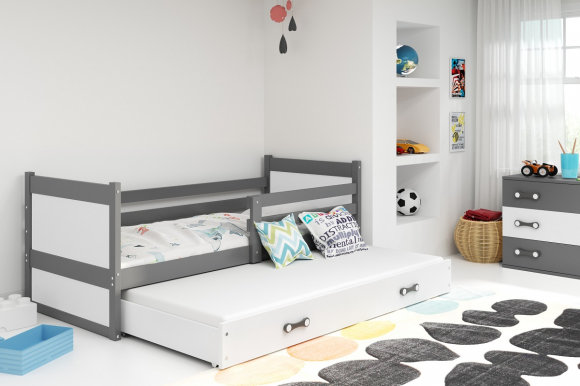 Rico II 200x90 Bed with two mattresses Graphite