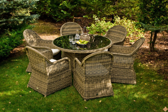 FORTE- MS.023.100 Garden furniture set Table + 6 chairs