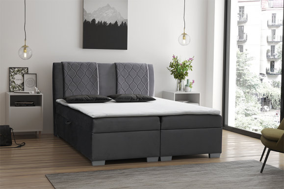 COLUMBIA Box Spring 140x200 Bed with box