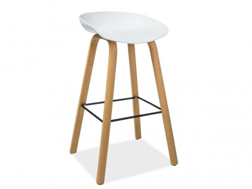 STING Bar stool White/natural