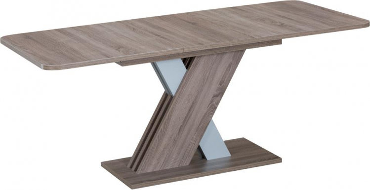 EXEL Extendable dining table (Oak Truffle/Aluminum)