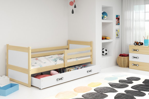 Rico I 190x80 Bed with a mattress Pine
