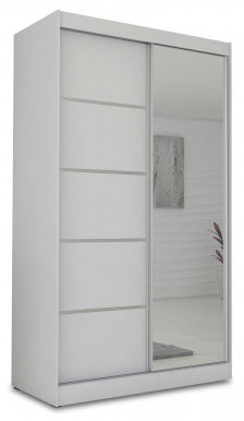 Max- Makira 120 White mat Wardrobe