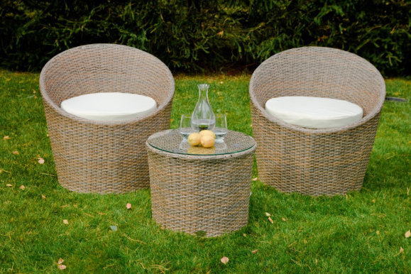 MODICO Garden furniture set Table + 2 chairs