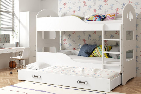 Dominik 3 Triple bunk bed with mattress 190x80