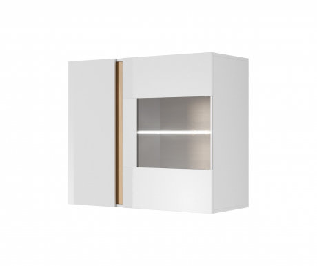 Arco White D Glass hanging cabinets