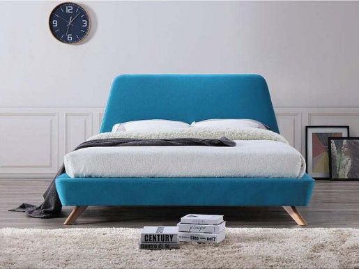 Gant TR 160 turquoise Bed with wooden frame