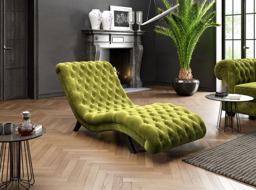 LORD Chaise Lounge (Green fabric Riviera 36)