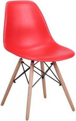 SPAM ENZO Chair red/beech wood