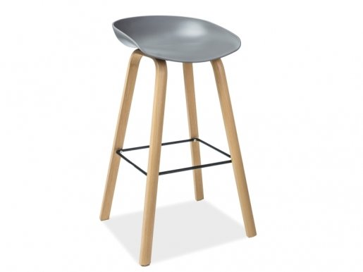STING Bar stool Grey/natural