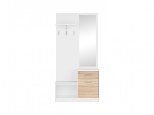 Nepo Plus Hall white/oak sonoma