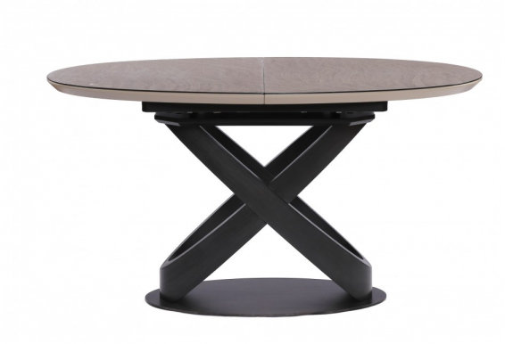 ORBITA (1400-1800x900x760) Extendable dining table Black/Brown