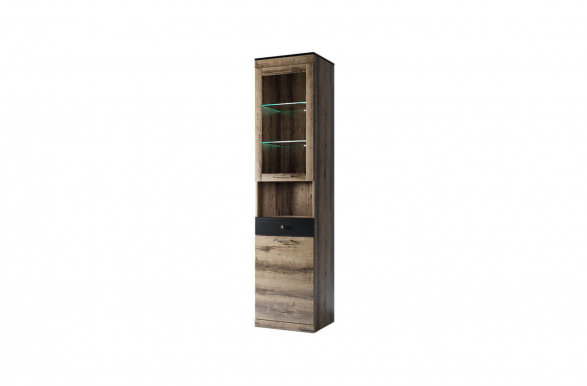 Jagger wit 1d1w1s Glass-fronted cabinet