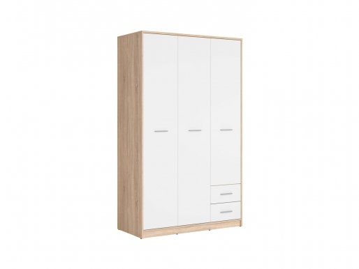 Nepo Plus SZF3D2S oak sonoma/white Wardrobe