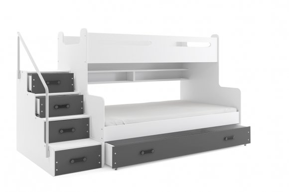 Bunk bed with mattress M5902730640424 white/graphite