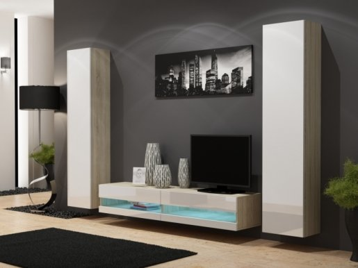 Vigo New IV Sekcija oak sonoma/white gloss