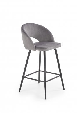 V-CH-H/96- P Bar stool (Grey)