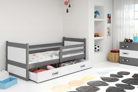 Rico I 200x90 Bed with a mattress Graphite