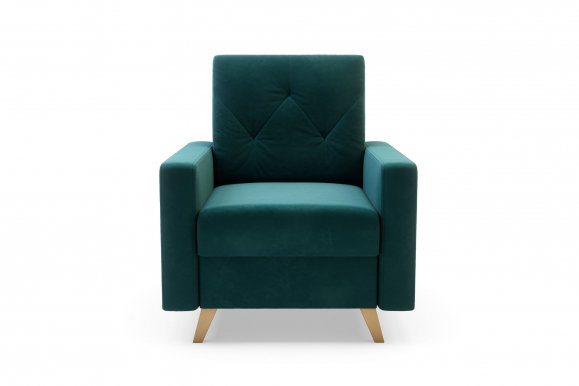 MARKOS Armchair (fabric Kronos 19 green)