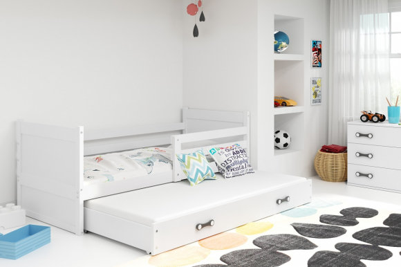 Rico II 190x80 Bed with two mattresses White