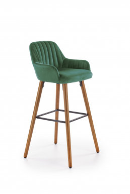 V-CH-H/93-  C.Z Bar stool (Green/nut)