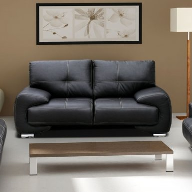 OM-GA II 2-seater sofa (black eco leather D8)