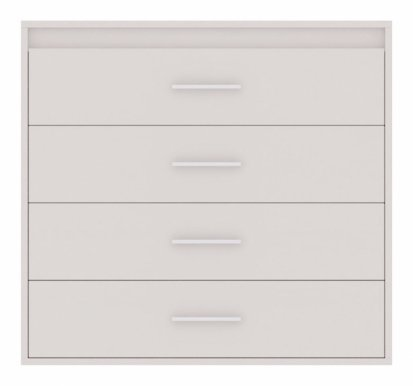 Texas 1 Chest of drawers White mat