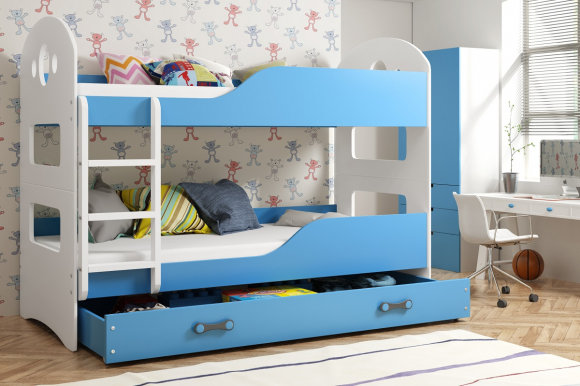 Domenik Bunk bed with mattress 160x80