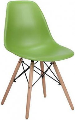 SPAM ENZO Chair green/beech wood