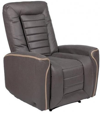ARNOLD Armchair with electro recliner and massager (grey fabric)