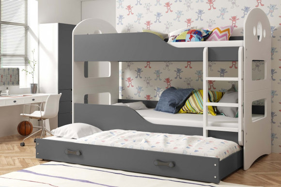 Dominik 3 Triple bunk bed with mattress 160x80