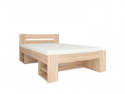 Nepo Plus LOZ3S+W140 oak sonoma Bed