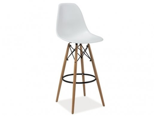 ENZO/ H-1 white/beech Bar stool