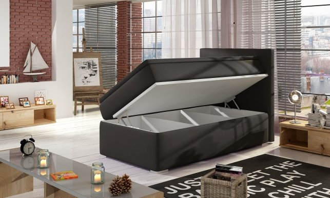 Roc-00 90x200 Boxspring Bed RIGHT