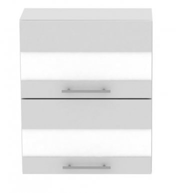 Standard WK2S60 60 cm Laminat Horizontal wall cabinet with 2 glass doors