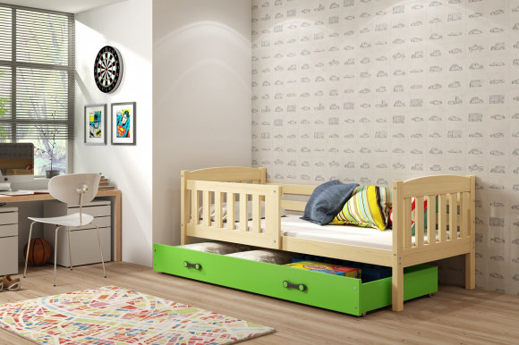 Cubus 1 Bed with mattress 200x90 pine