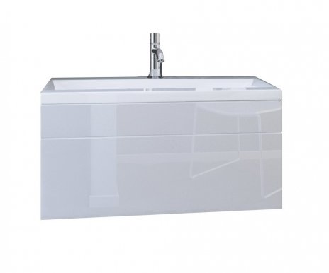 DR/LU 80 Sink cabinet white/white gloss