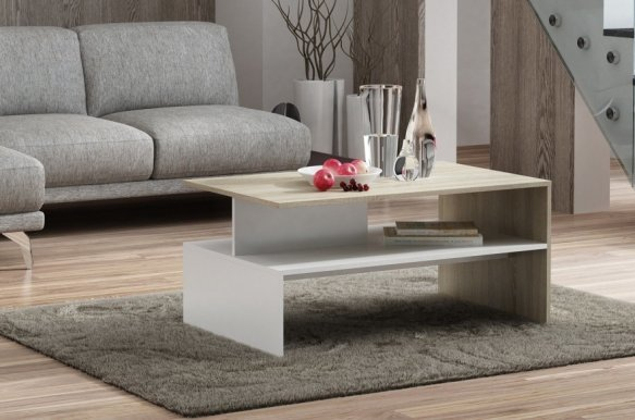 Helios Coffee table oak sonoma/white