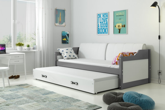 David II 190x80 Twin bed with mattress graphite