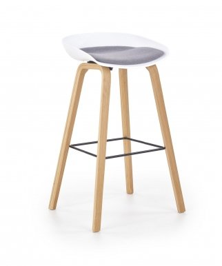 H-86 Bar stool White/grey
