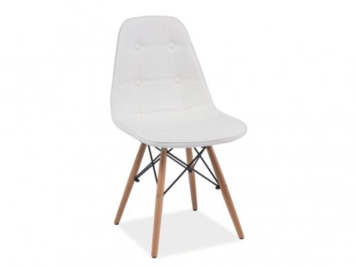 Axel- BUB Chair white/beech wood